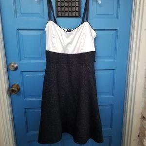 Torrid Size 18 Black and White Sleeveless Dress.